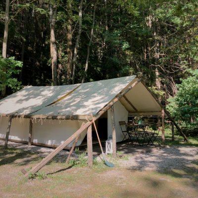 Safaritent van het Natura Eco Camp nabij Kransjka Gora