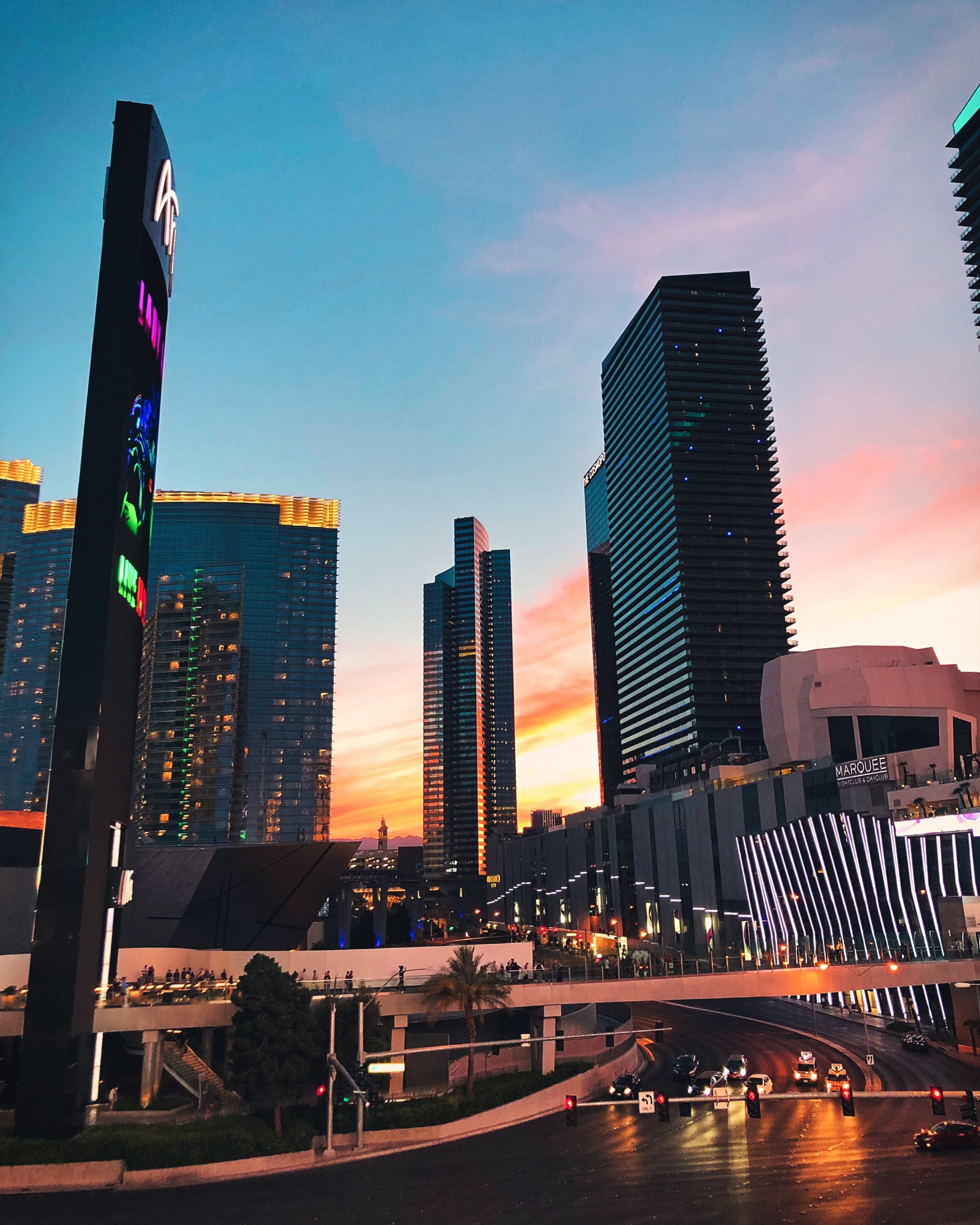 Las Vegas - Sunset over The Strip