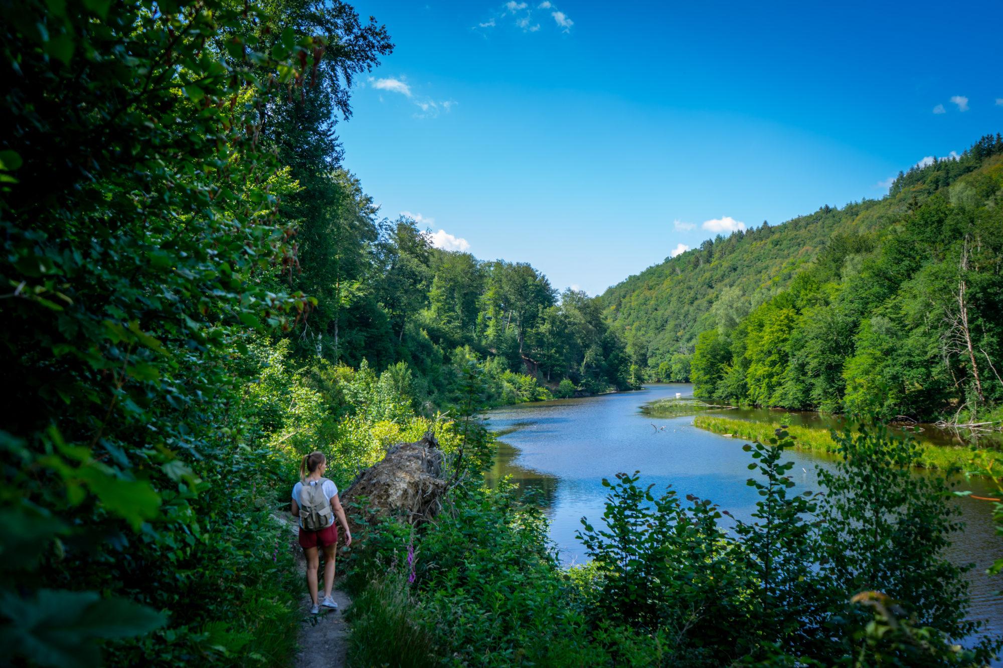 Lac de Nisramont, wandelhutspot in de Ardennen