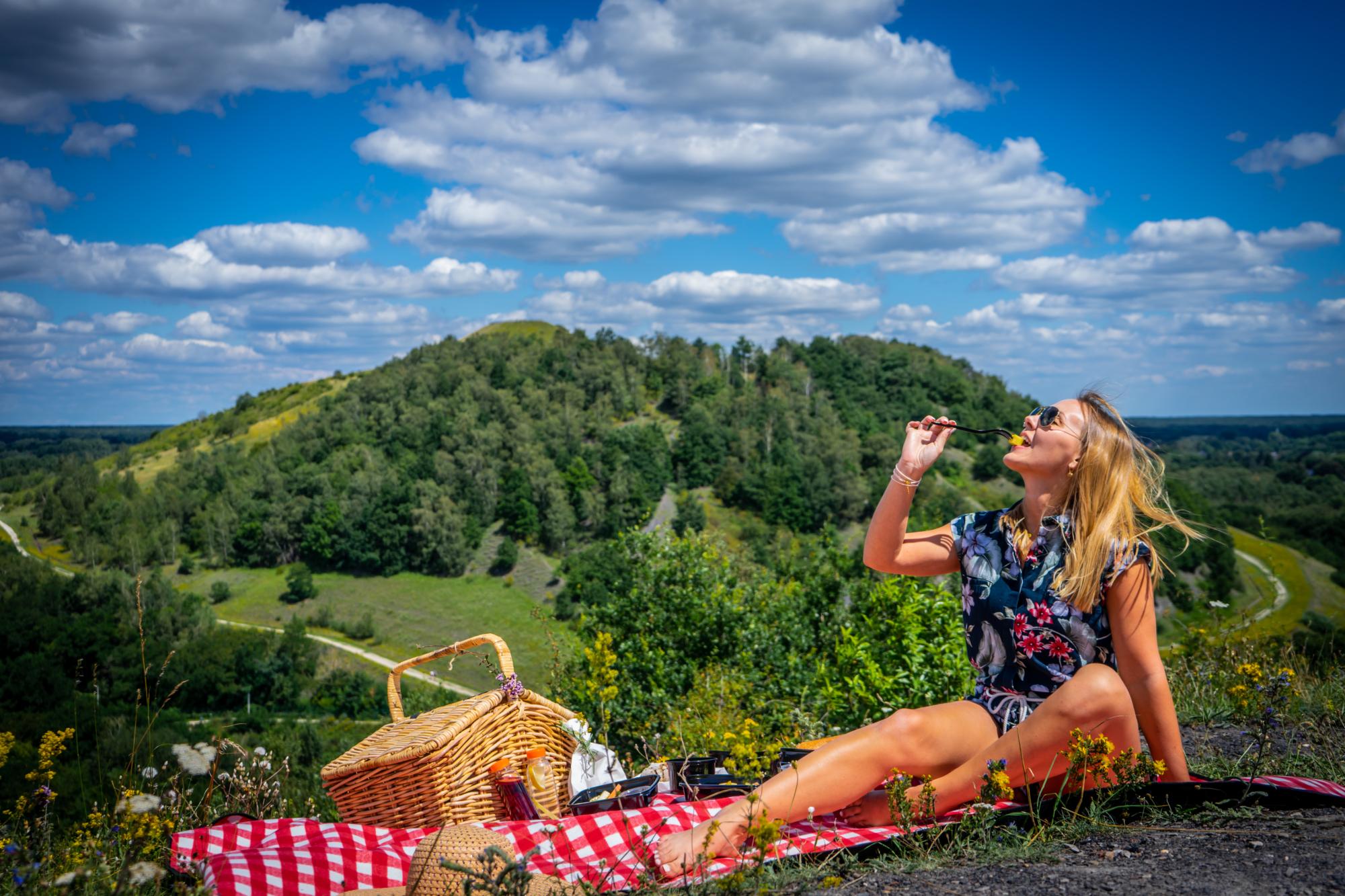 Genieten van een picknick