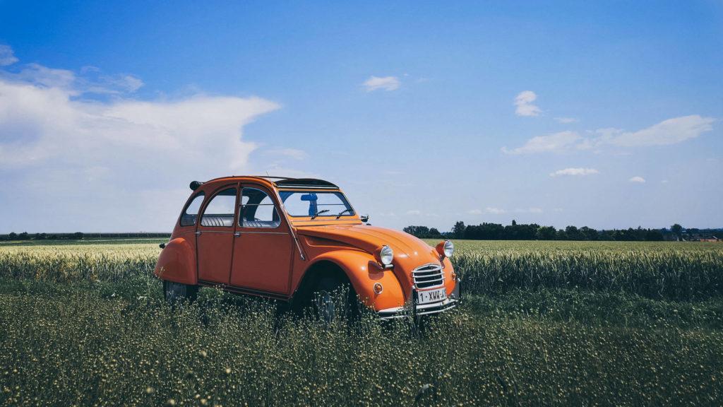 Met een Citroën 2pk door Haspengouw
