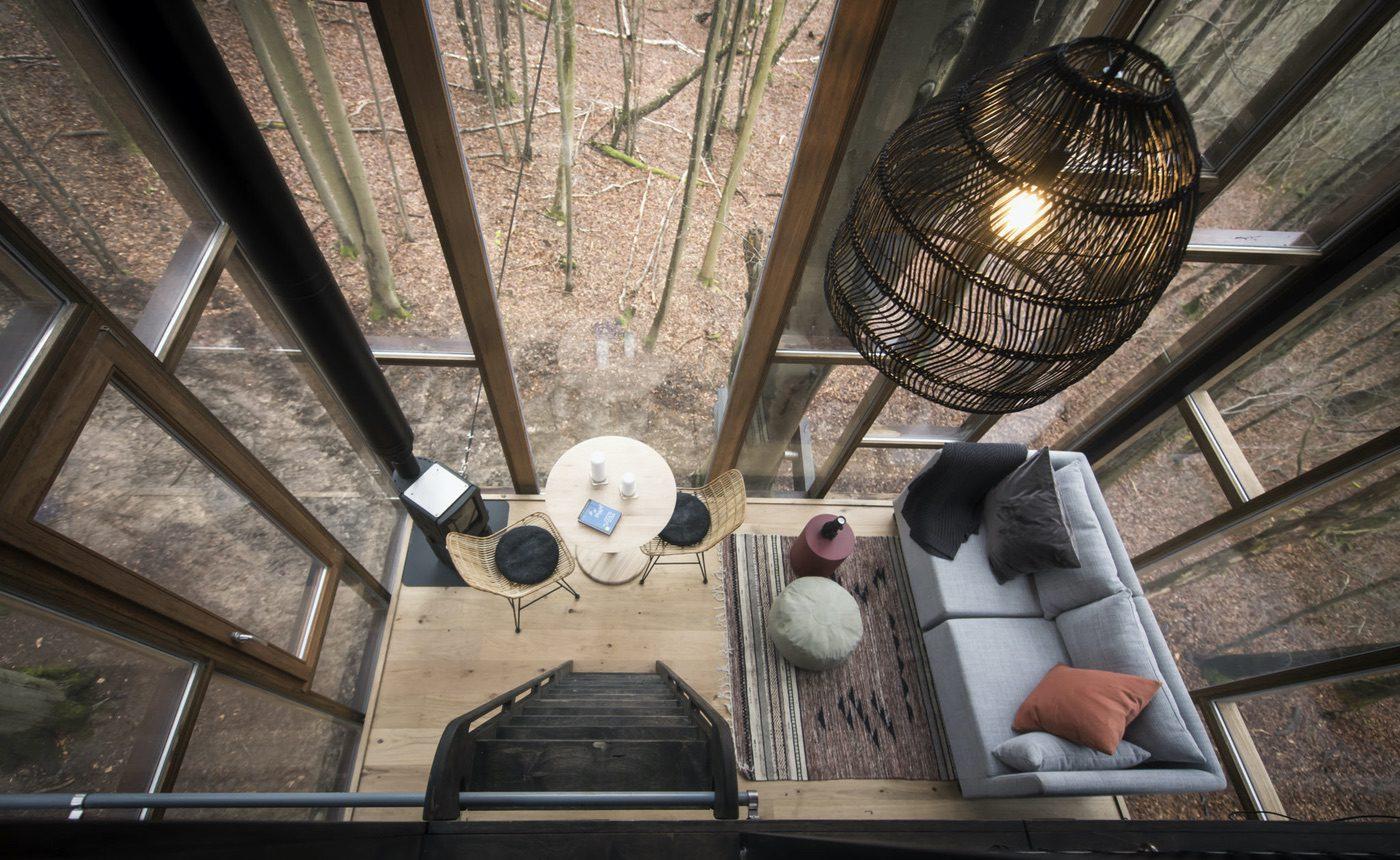 Uitzicht vanuit de Glass Cabins van Slô Escape