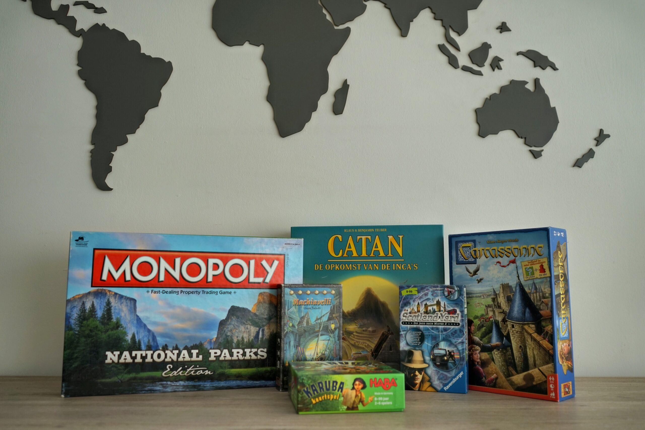 Reis rond de wereld met gezelschapsspel